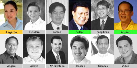 Names 24 Senators Philippine 2013