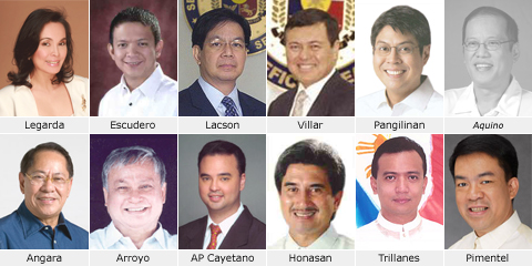 Re-elected were Sens. Edgardo Angara, Joker Arroyo, Panfilo Lacson