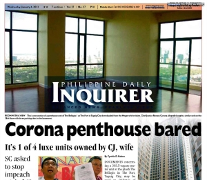 Inquirer Cover Page, Jan 4, 2012