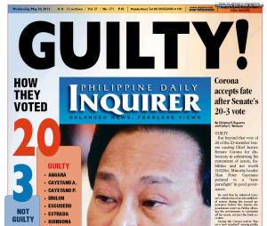 Cover of Philippine Daily Inquirer, May 30, 2012